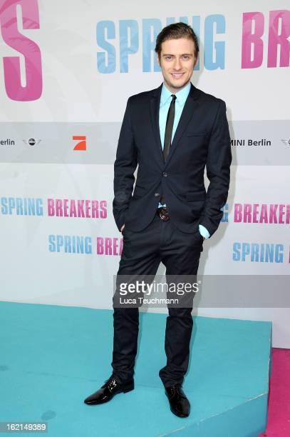 Joern Schloenvoigt attends the premiere of 'Spring Breakers' at Sony Center on February 19 2013 in Berlin Germany