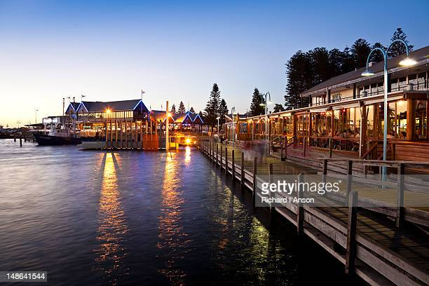 Joe's Fish Shack and Cicerello's Fish 'N Chips restaurants at Fishing Boat Harbour.