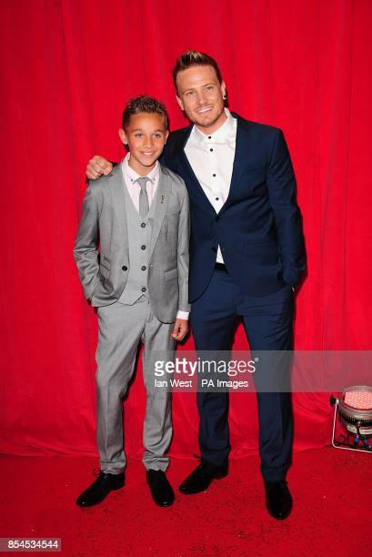 JoeWarren Plant and Matthew Wolfenden arriving for the 2014 British Soap Awards at The Hackney Empire 291 Mare St London