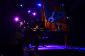 Joey Alexander child prodigy from Bali performs on stage at the WWOZ Piano Nignt on April 27 2015 at the House of Blues in New Orleans United States