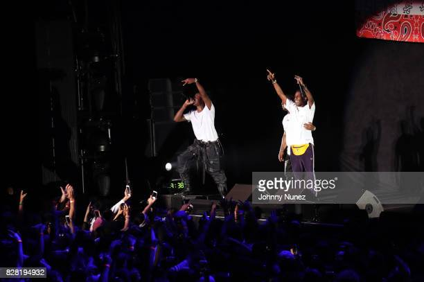 Joey Bada$$ A$AP Ferg and A$AP Rocky perform at Barclays Center on August 8 2017 in New York City
