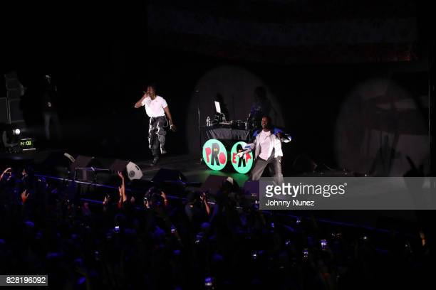 Joey Bada$$ and A$AP Ferg perform at Barclays Center on August 8 2017 in New York City