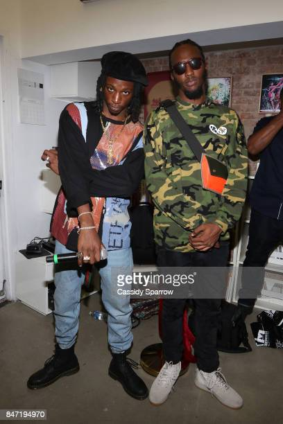 Joey Bada$$ and CJ Fly attend The Baesline Launch Event on September 14 2017 in New York City