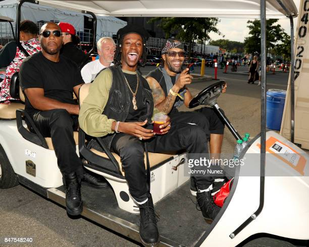 Joey Bada$$ and Redman pose backstage during the Meadows Music And Arts Festival Day 1 at Citi Field on September 15 2017 in New York City