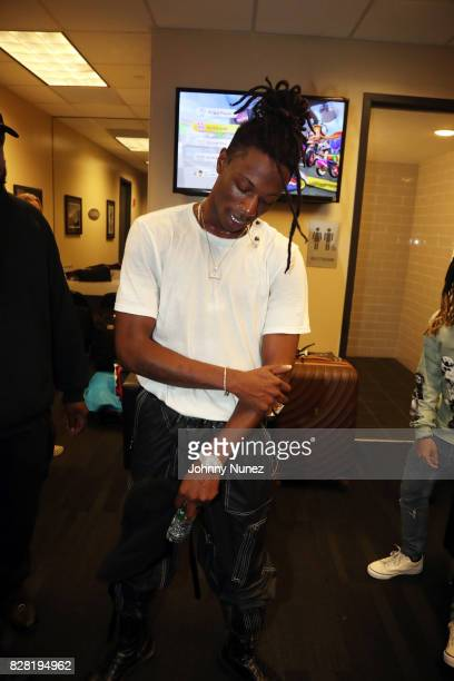 Joey Bada$$ backstage at Barclays Center on August 8 2017 in New York City