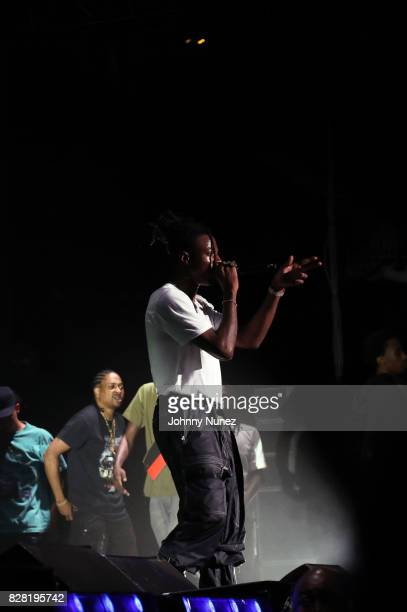 Joey Bada$$ performs at Barclays Center on August 8 2017 in New York City