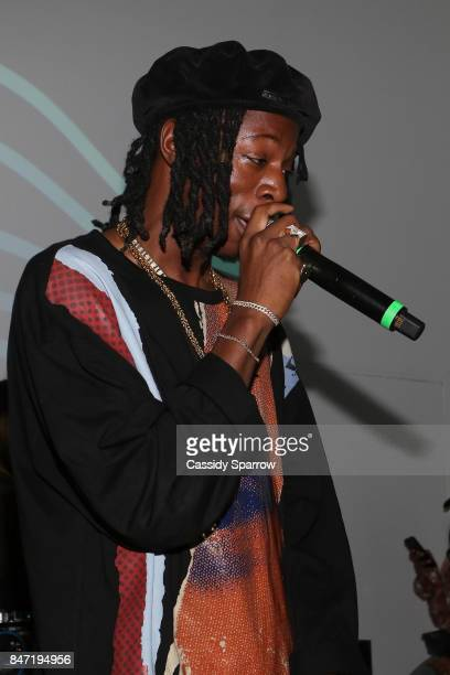 Joey Bada$$ Performs At The Baesline Launch Event on September 14 2017 in New York City