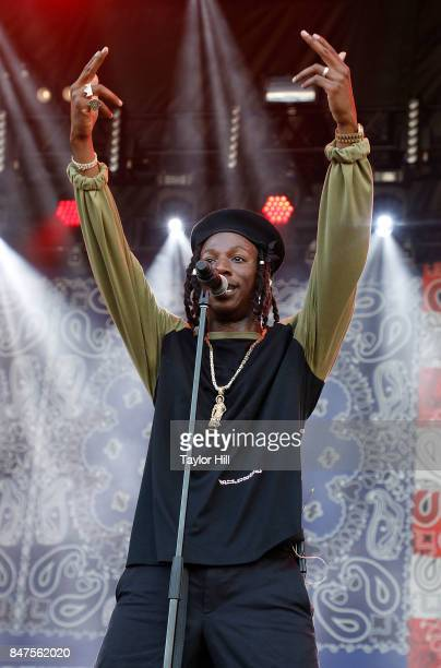 Joey Bada$$ performs onstage during Day 1 of The Meadows Music Arts Festival at Citi Field on September 15 2017 in New York City