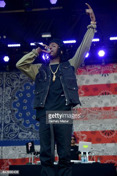 Joey Bada$$ performs onstage during the Meadows Music and Arts Festival Day 1 at Citi Field on September 15 2017 in New York City