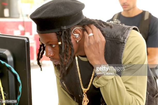 Joey Bada$$ poses backstage during the Meadows Music And Arts Festival Day 1 at Citi Field on September 15 2017 in New York City