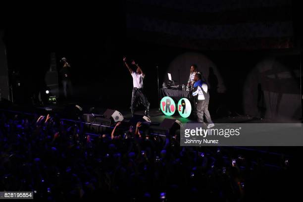 Joey Bada$$ Powers Pleasant and A$AP Ferg perform at Barclays Center on August 8 2017 in New York City