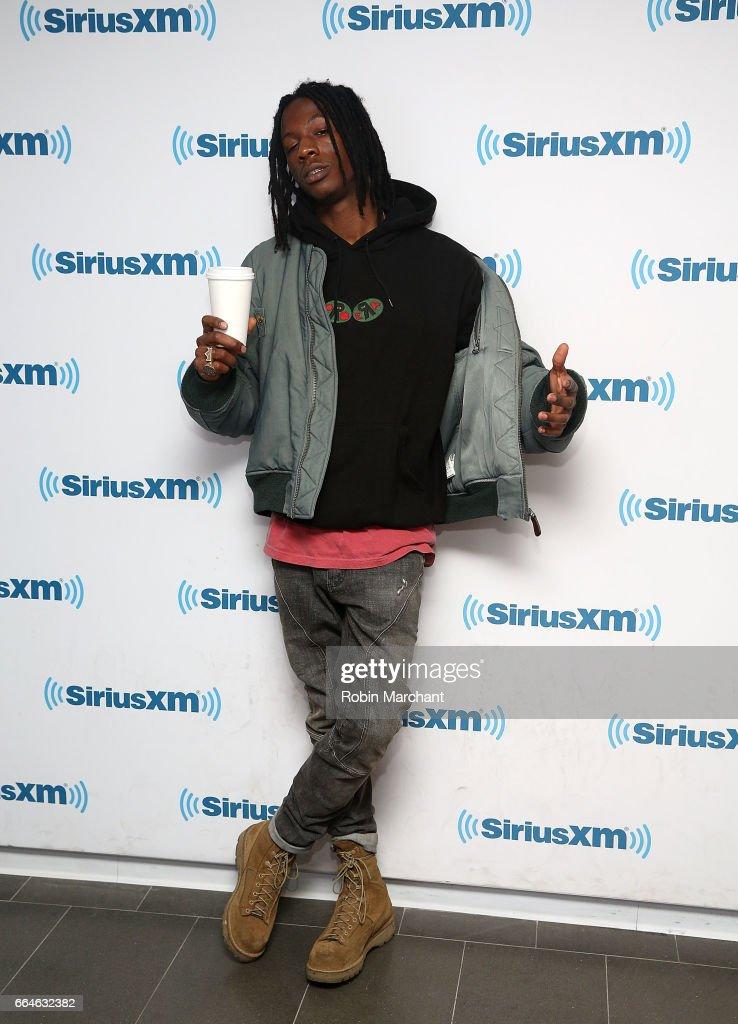 Joey Bada$$ visits SiriusXM's Shade45 at SiriusXM Studios on April 4, 2017 in New York City.