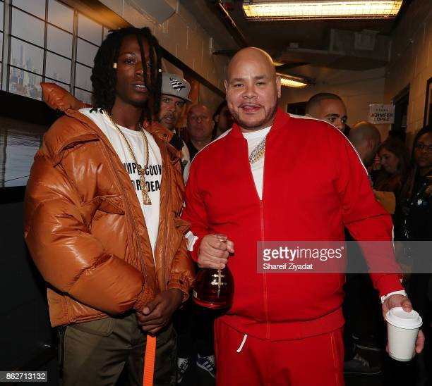 Joey Badass and Fat Joe attend Tidal X Brooklyn at Barclays Center on October 17 2017 in the Brooklyn borough of New York City New York
