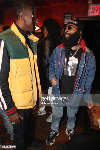 Joey Badass and Zombie Juice Attend Underachievers In Concert` at Irving Plaza on October 16 2017 in New York City