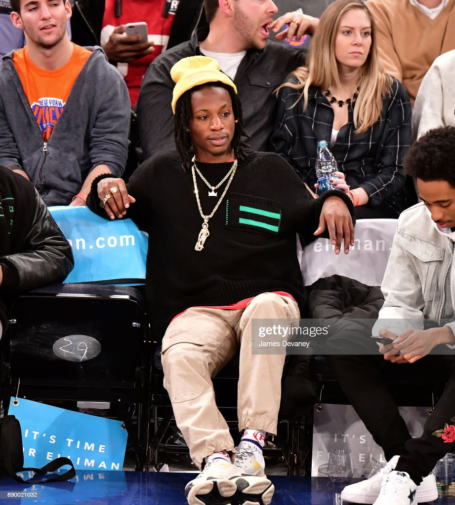Celebrities Attend The New York Knicks Vs Atlanta Hawks Game