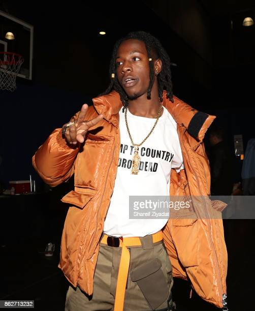 Joey Badass attends Tidal X Brooklyn at Barclays Center on October 17 2017 in the Brooklyn borough of New York City New York