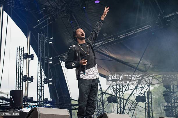Joey Badass performs at We Love Green Festival on May 31 2015 in Paris France