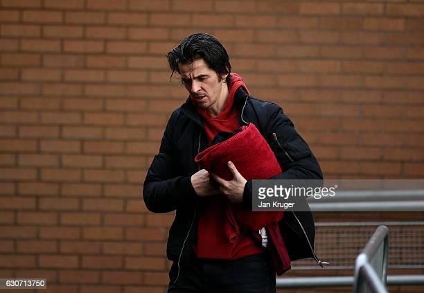 Joey Barton arrives ahead of kick off during the Premier League match between Burnley and Sunderland at Turf Moor on December 31 2016 in Burnley...