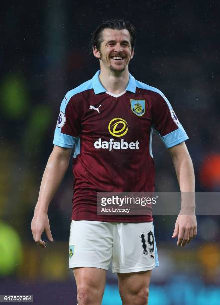 Joey Barton of Burnley during the Premier League match between Burnley and Leicester City at Turf Moor on January 31 2017 in Burnley England