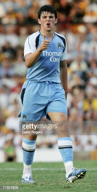 Joey Barton of Manchester City pictured during the preseason friendly match between Port Vale and Manchester City at Vale Park on July 26 2006 in...