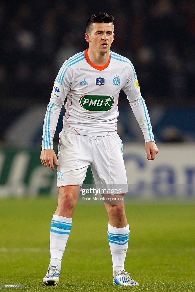 <a gi-track='captionPersonalityLinkClicked' href=/galleries/search?phrase=Joey+Barton&family=editorial&specificpeople=211284 ng-click='$event.stopPropagation()'>Joey Barton</a> of Marseille is pictured during the French Cup match between Paris Saint-Germain FC and Marseille Olympic OM at Parc des Princes on February 27, 2013 in Paris, France.
