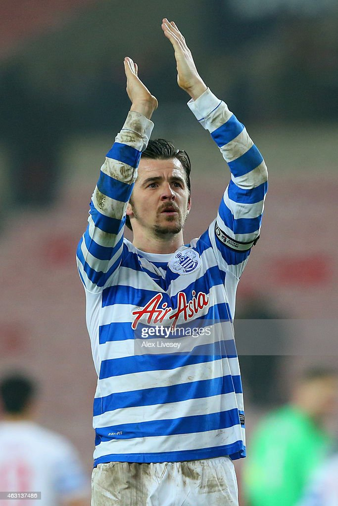 Joey Barton of QPR applauds the fans after the Barclays Premier League match between Sunderland and Queens Park Rangers at Stadium of Light on February 10, 2015 in Sunderland, England.