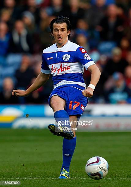 Joey Barton of QPR in action during the Sky Bet Championship match between Burnley and Queens Park Rangers at Turf Moor on October 26 2013 in Burnley...