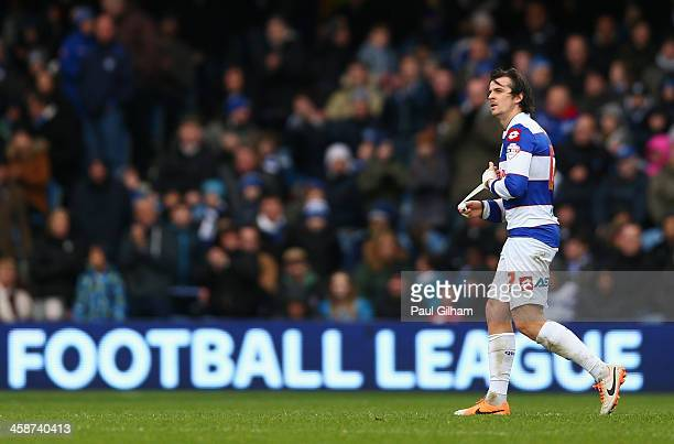 Joey Barton of Queens Park Rangers walks off the pitch after being bsent off during the Sky Bet Championship match between Queens Park Rangers and...