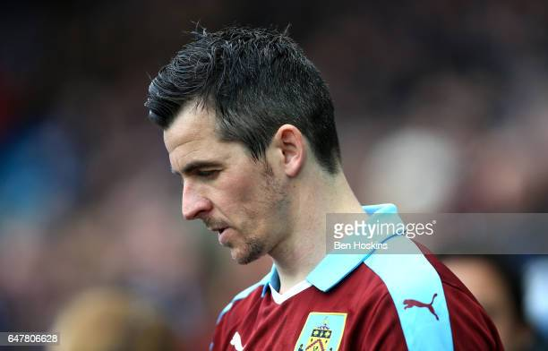 Joey Barton of urnley walks out prior to the Premier League match between Swansea City and Burnley at Liberty Stadium on March 4 2017 in Swansea Wales