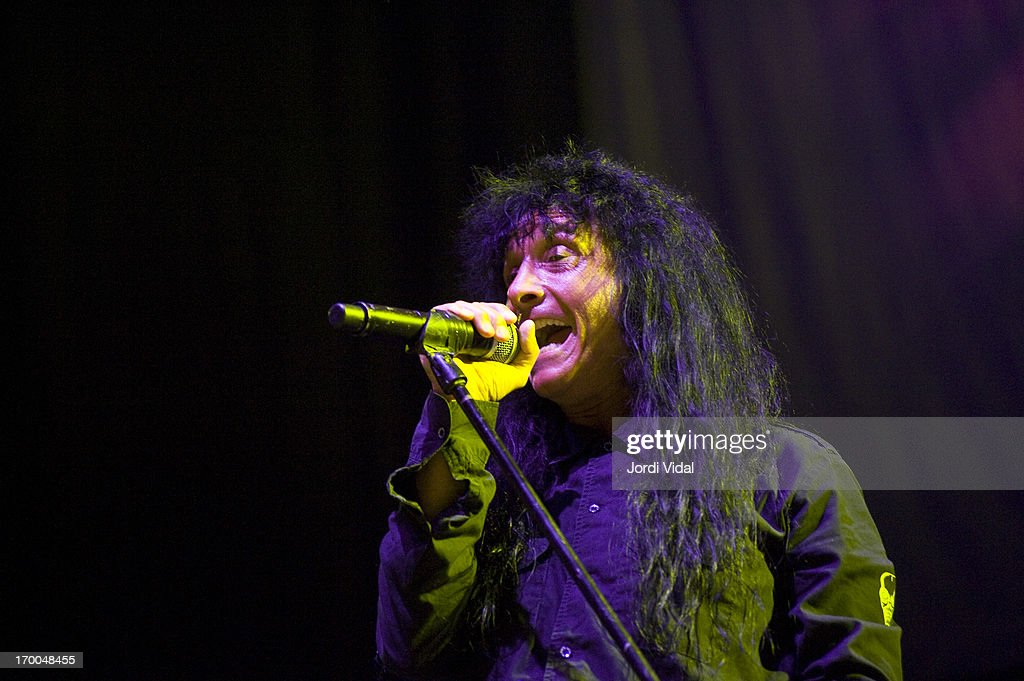 Joey Belladona of Anthrax performs on stage at Sonisphere Festival 2013 at Parc Del Forum on June 1, 2013 in Barcelona, Spain.