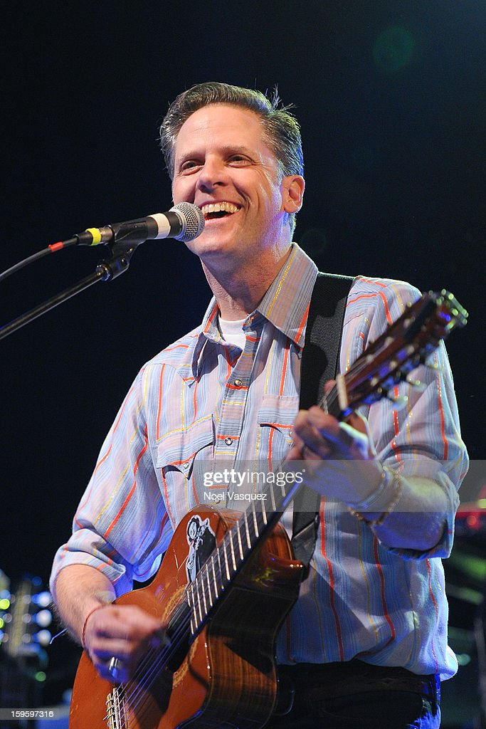 Joey Burns of Calexico performs at El Rey Theatre on January 16, 2013 in Los Angeles, California.