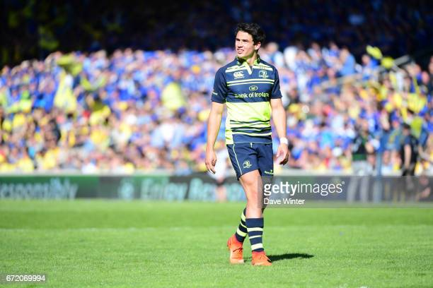 Joey Carbery of Leinster during the European Champions Cup semi final match between AS Clermont and Leinster on April 23 2017 in ClermontFerrand...