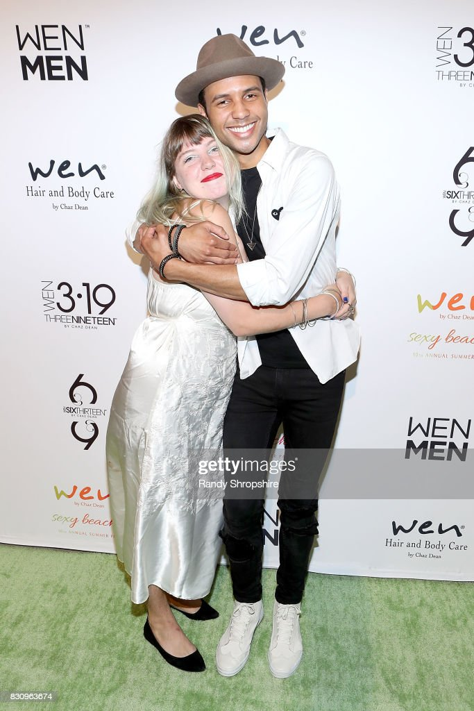 Joey Cook (L) and Rayvon Owen attend Chaz Dean summer party benefiting Love Is Louder on August 12, 2017 in Los Angeles, California.