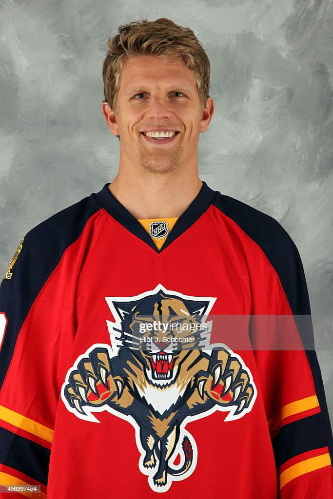 Joey Crabb of the Florida Panthers poses for his official headshot for the 20142015 season on September 18 2014 at the BBT Center in Sunrise Florida
