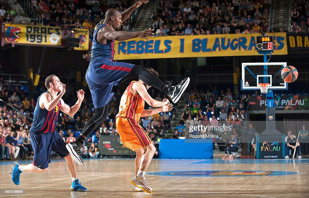 <a gi-track='captionPersonalityLinkClicked' href=/galleries/search?phrase=Joey+Dorsey&family=editorial&specificpeople=728526 ng-click='$event.stopPropagation()'>Joey Dorsey</a>, #6 of FC Barcelona in action during the Turkish Airlines Euroleague Basketball Play Off Game 2 between FC Barcelona Regal v Galatasaray Liv Hospital Istanbul at Palau Blaugrana on April 17, 2014 in Barcelona, Spain.