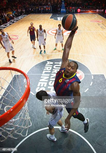 Joey Dorsey #6 of FC Barcelona in action during the Turkish Airlines EuroLeague Final Four Semi Final A between FC Barcelona v Real Madrid at...