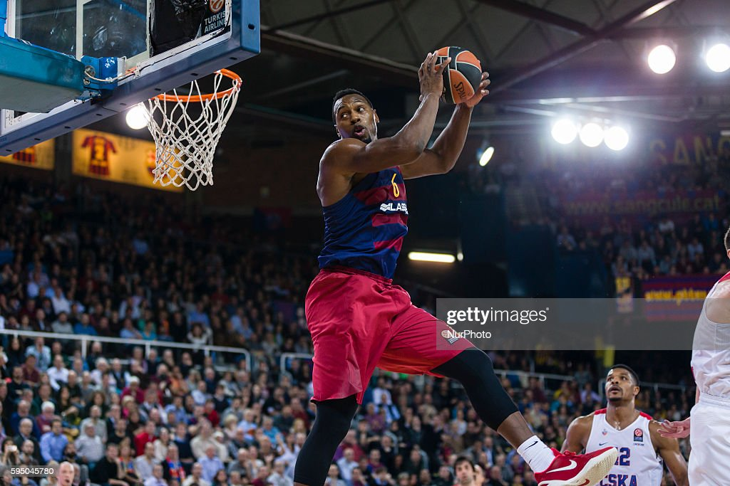 Joey Dorsey during the Euroleague match between FC Barcelona Lassa CSKA Moscow for the Top16 Round 10 played at Palau Blaugrana on 11th Mar 2016 in...