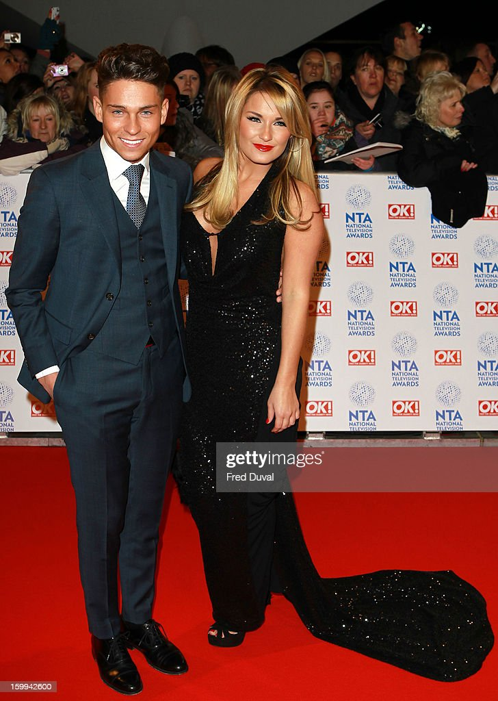 Joey Essex and Billie Faiers attend the National Television Awards at 02 Arena on January 23, 2013 in London, England.