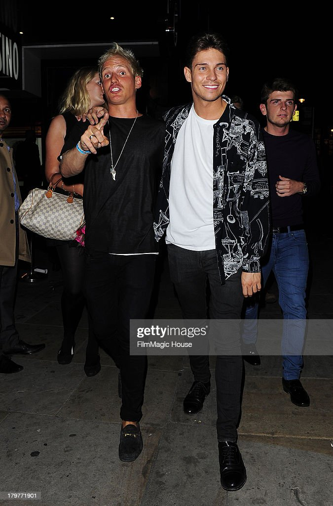 Joey Essex and friends leave Cafe De Paris night club in Leicester Square. on September 6, 2013 in London, England.