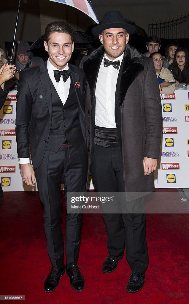 Joey Essex and <a gi-track='captionPersonalityLinkClicked' href=/galleries/search?phrase=James+Argent&family=editorial&specificpeople=7307159 ng-click='$event.stopPropagation()'>James Argent</a> attend the Pride Of Britain awards at Grosvenor House, on October 29, 2012 in London, England.