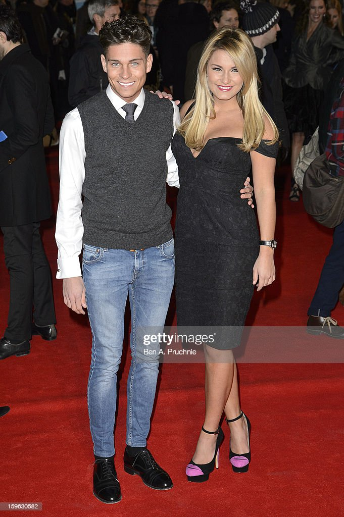 Joey Essex and Sam Faiers attends the UK Premiere of 'Flight' at The Empire Cinema on January 17, 2013 in London, England.