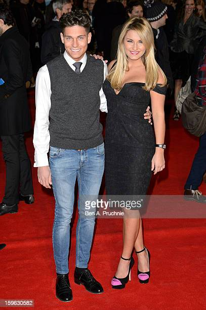 Joey Essex and Sam Faiers attends the UK Premiere of 'Flight' at The Empire Cinema on January 17 2013 in London England