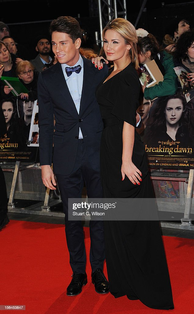 Joey Essex and Sam Faires attend the UK Premiere of 'The Twilight Saga: Breaking Dawn - Part 2' at Odeon Leicester Square on November 14, 2012 in London, England.