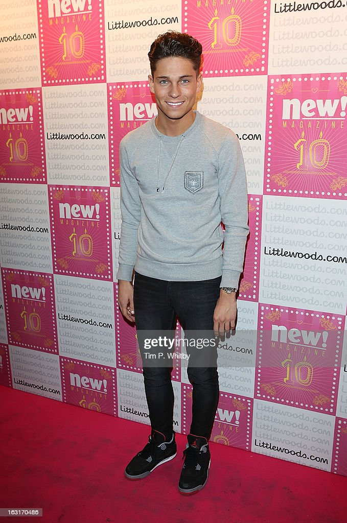 Joey Essex attends New Magazine Celebrates 10 years in print at Gilgamesh on March 5, 2013 in London, England.
