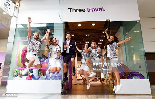 Joey Essex launched the Three Travel Agency popup at Westfield as part of Three's Feel at Home campaign allowing customers to use their mobile phone...