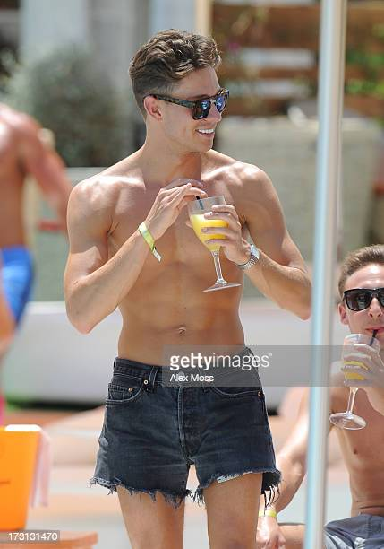Joey Essex Seen at oceans beach club with family and friends on July 8 2013 in Ibiza