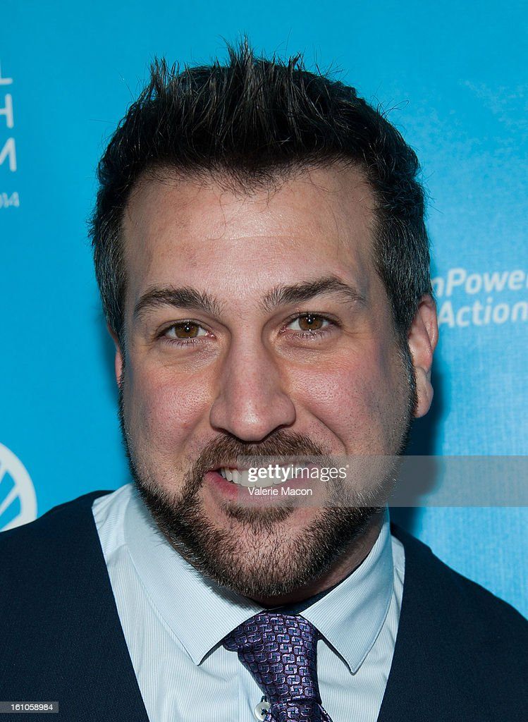 Joey Fatone arrives at the mPowering ActionPre-GRAMMY Launch Event at The Conga Room at L.A. Live on February 8, 2013 in Los Angeles, California.