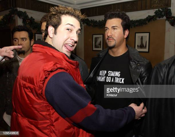 Joey Fatone during *NSYNC Attend Unveiling of Their Wax Figures at Madame Tussaud's New York at Madame Tussaud's Wax Museum in New York City New York...