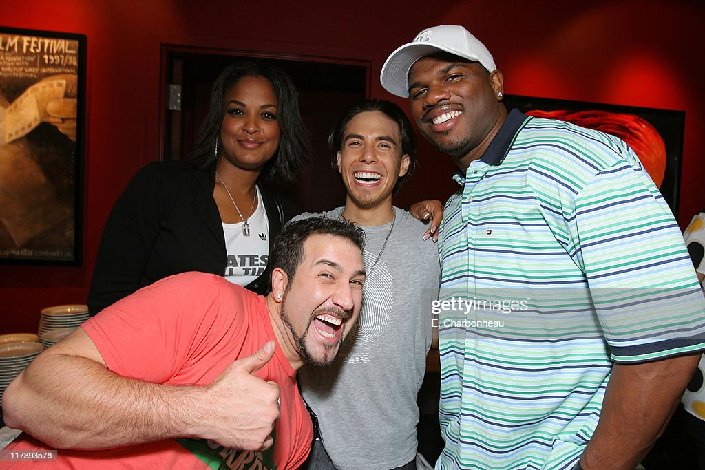 Joey Fatone Laila Ali Apolo Ohno and Curtis Conway *Exclusive Coverage*