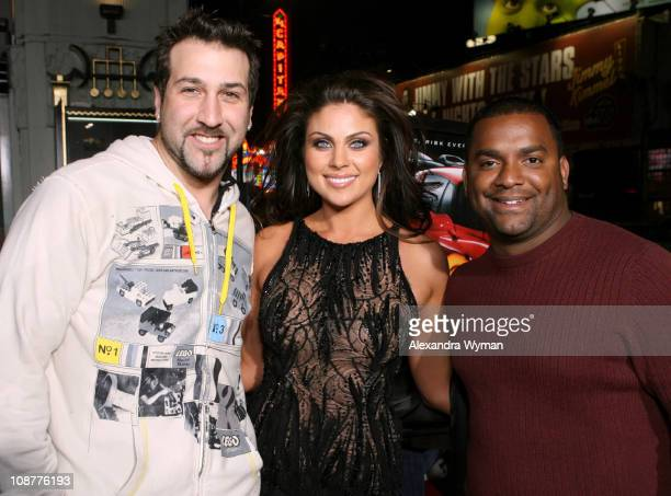 Joey Fatone Nadia Bjorlin and Alfonso Ribeiro during 'Redline' Los Angeles Premiere Red Carpet at Grauman's Chinese Theater in Hollywood California...